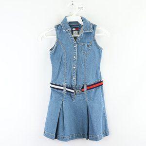 Vintage Tommy Hilfiger Denim Jean Dress Blue Girls